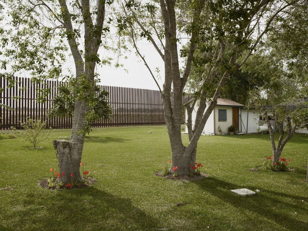 "Richard Misrach's Home, Brownsville, Texas, a 2013  Inkjet print, courtesy Fraenkel Gallery, San Francisco, Pace/MacGill Gallery, New York and Marc Selwyn Fine Art, LA, is part of the ""Border Cantos: Richard Misrach 