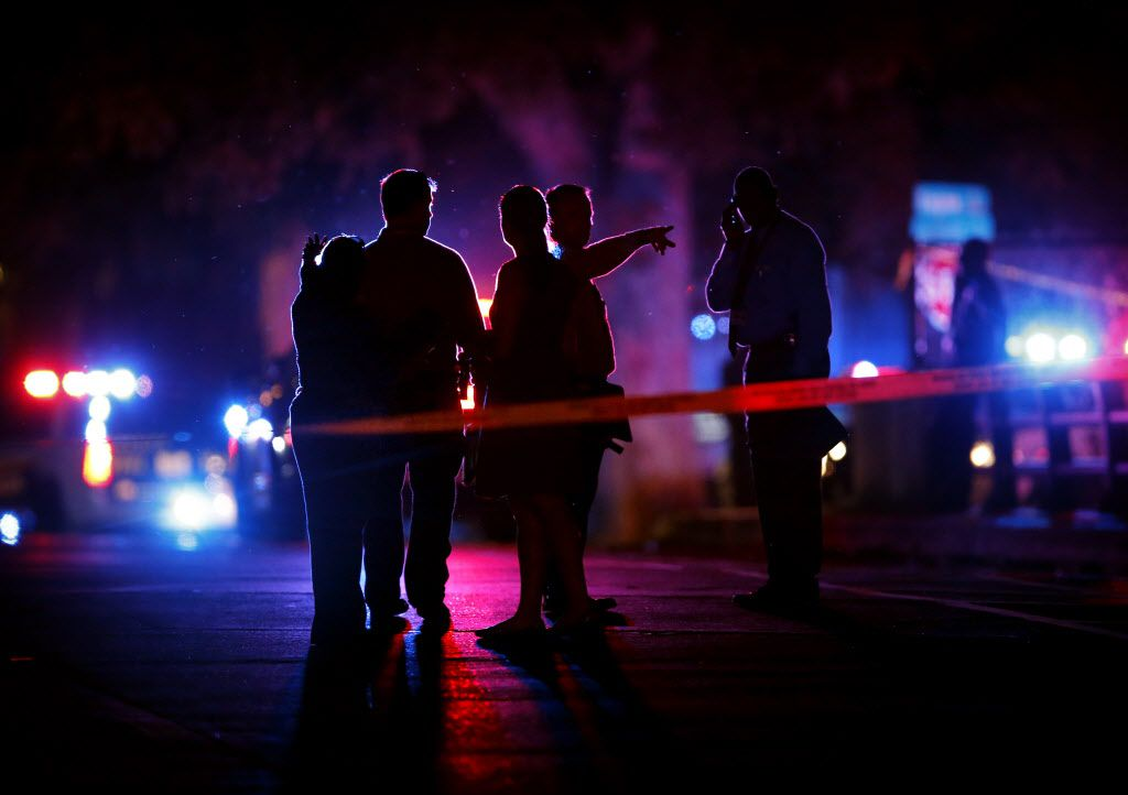 Authorities work the scene of a shooting in this 2016 file photo.