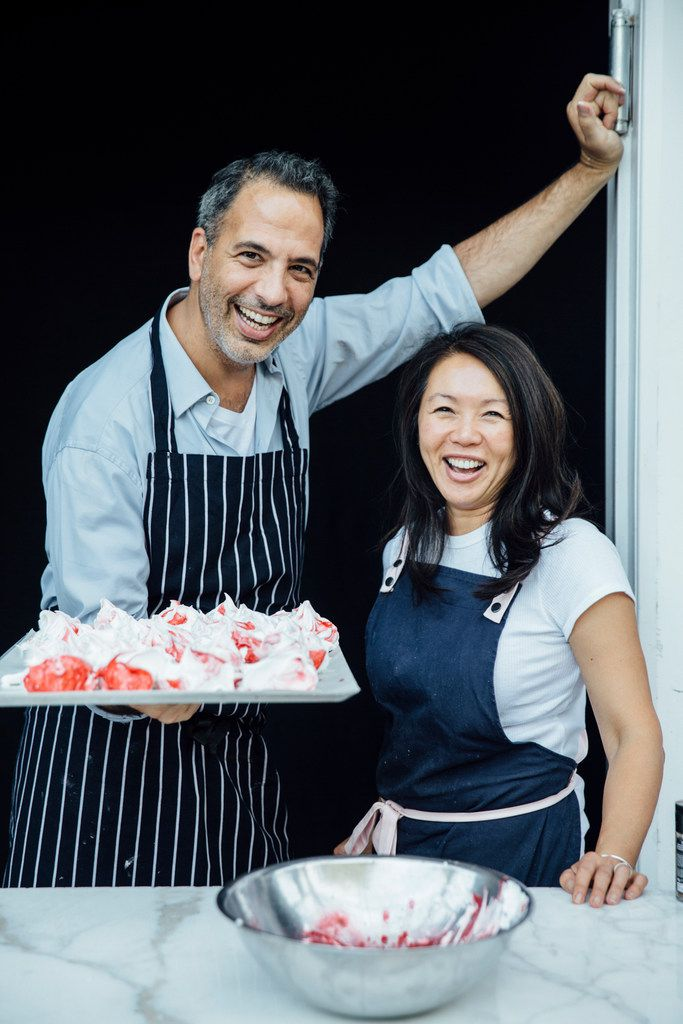 Yotam Ottolenghi and Helen Goh, authors of Sweet