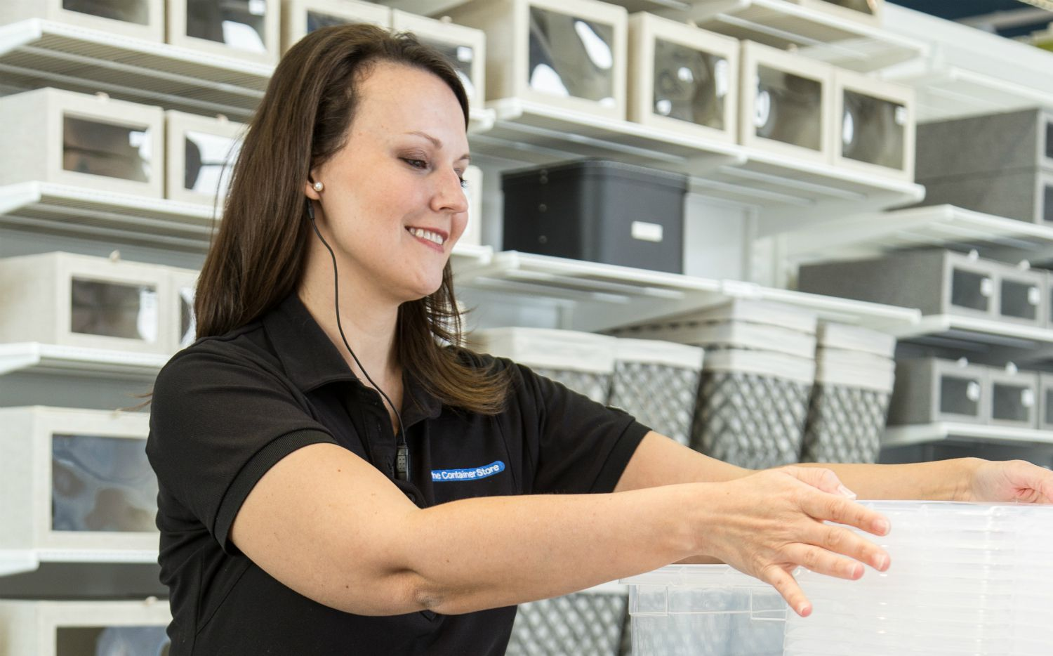 Employees at The Container Store use voice-activated wearable devices made by Theatro, a Richardson-based company.  Using the devices, employees can search for items and get help from co-workers most familiar with various categories without leaving the customer.