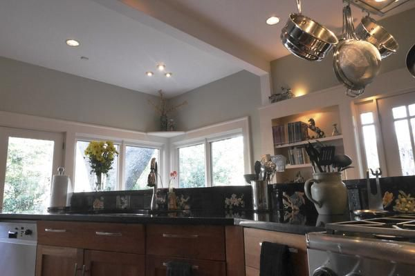 Virginia McAlester's modern kitchen was originally the library.