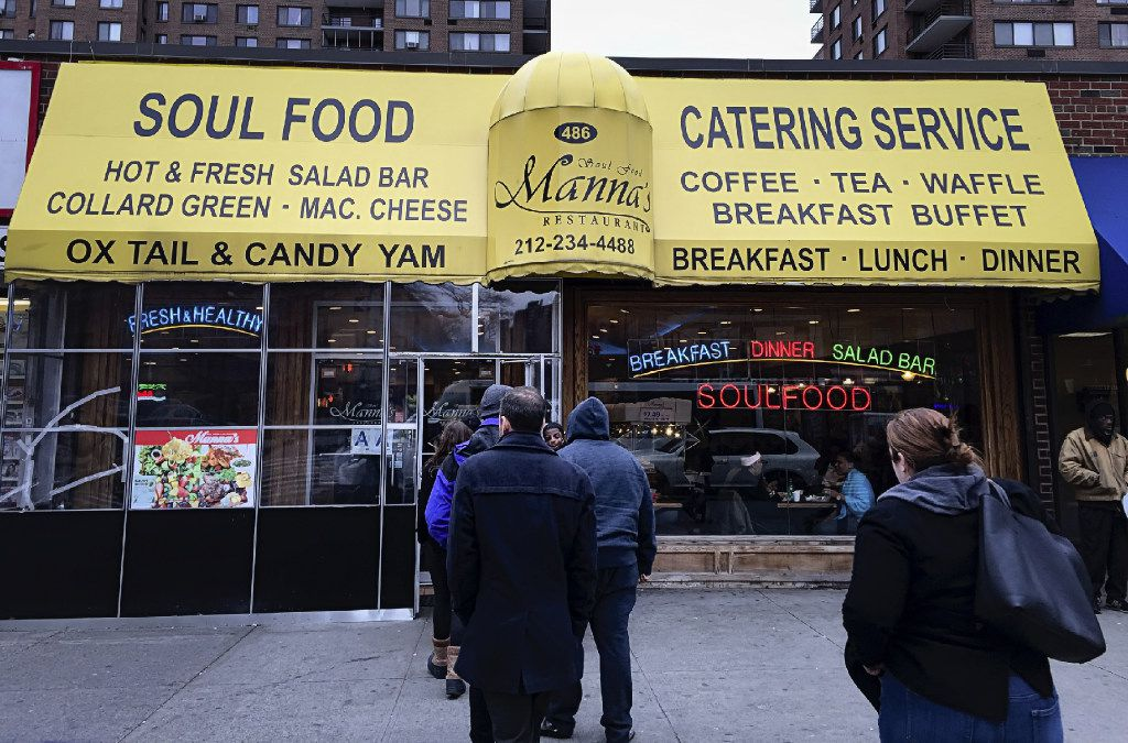 The tour ends with a lunch buffet at Manna's in Harlem.