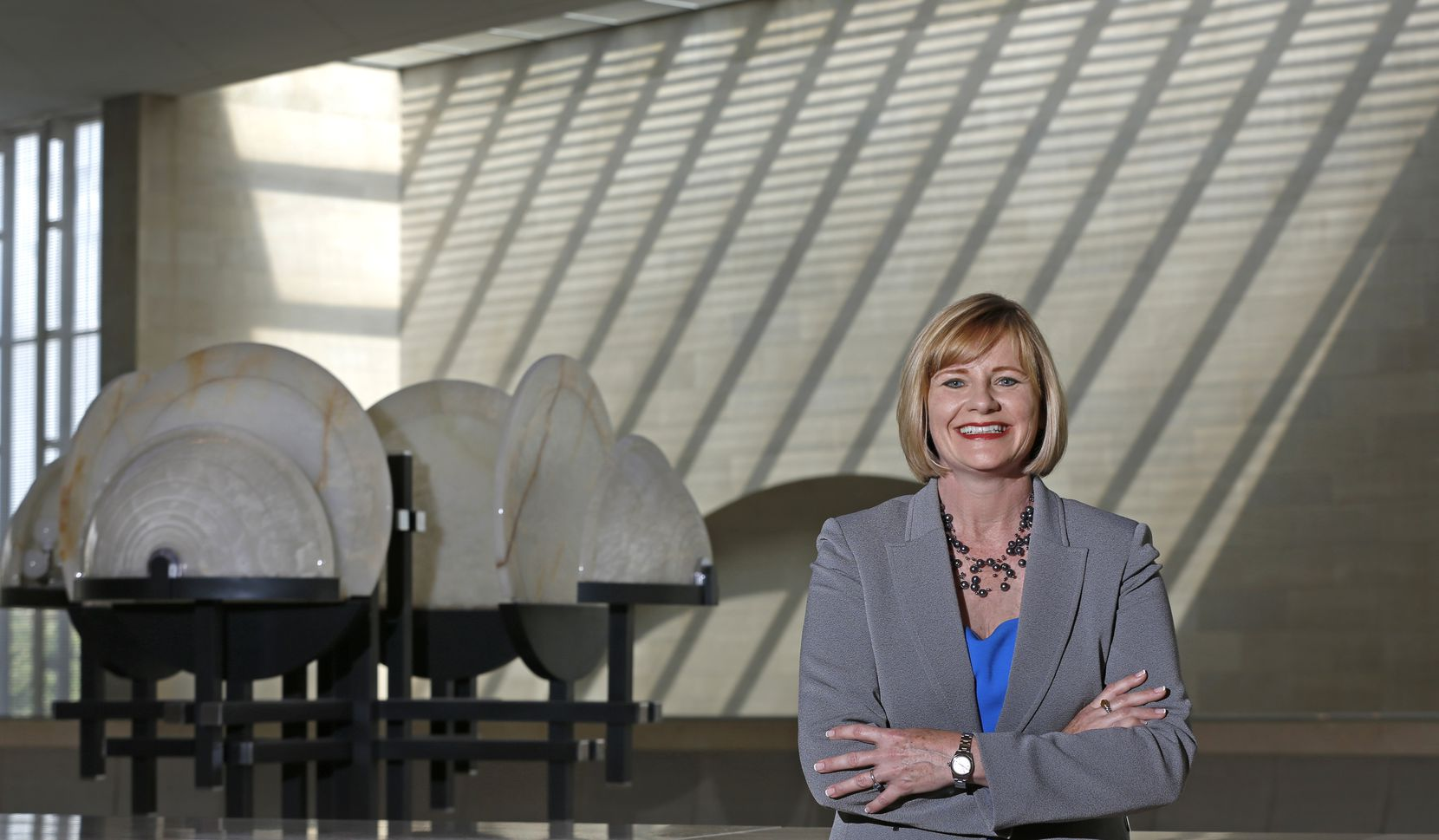 Dallas Symphony president and CEO Kim Noltemy at the Meyerson Symphony Center in Dallas.
