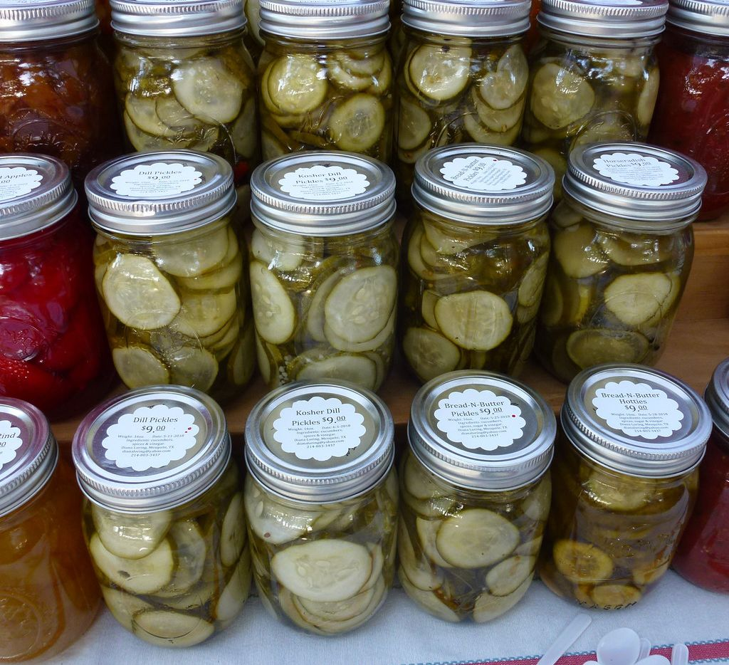 Many of the pickles, pickled veggies, jams and jellies from Designs by Diana at Farmers Branch Market are State Fair of Texas winners.