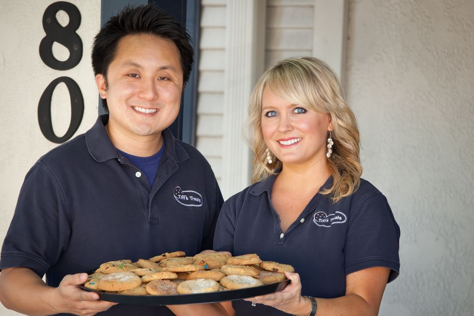 Leon Chen (left) and Tiffany Taylor-Chen created Tiff's Treats, which has locations across Texas and in Atlant