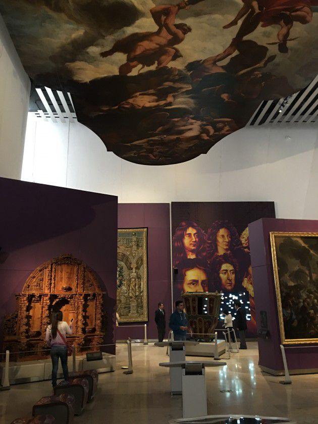 Una de la salas de exhibición.