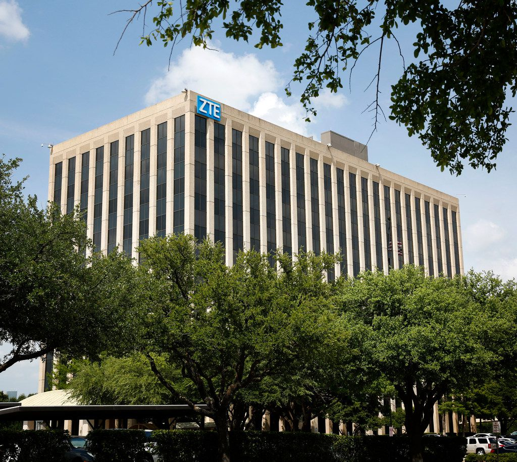 The U.S. headquarters of Chinese phone maker ZTE  in Richardson on May 14, 2018. ZTE USA, headquartered in Richardson, is a subsidiary of ZTE Corporation, a global provider of mobile devices, telecommunication systems, and enterprise solutions, which is based in China. (Rose Baca/The Dallas Morning News)