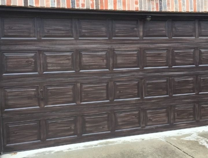 Phil did a fine job staining The Watchdog's garage door. Then things went south.