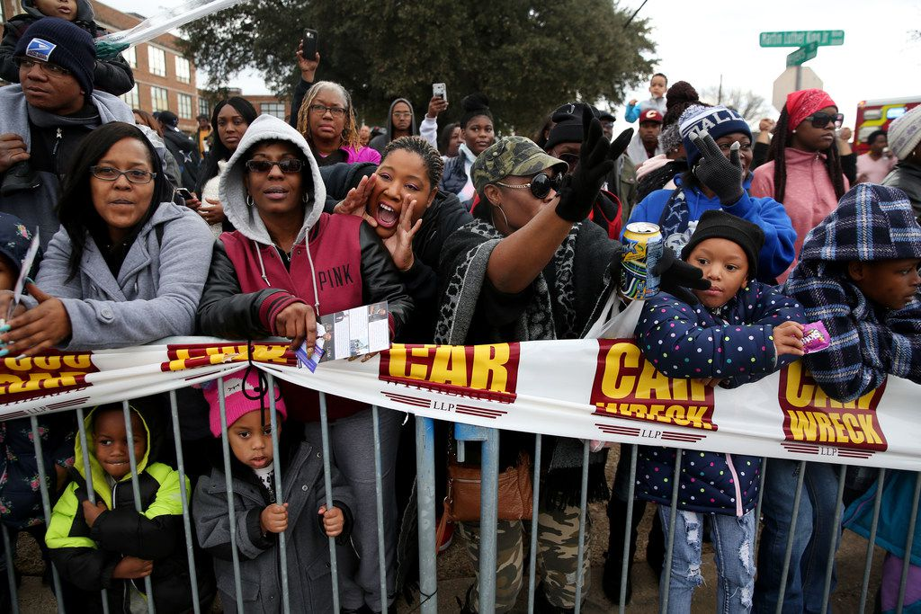 The crowd watches the Martin Luther King, Jr. Parade on Martin Luther King, Jr. Day in Dallas on Jan. 15, 2018.