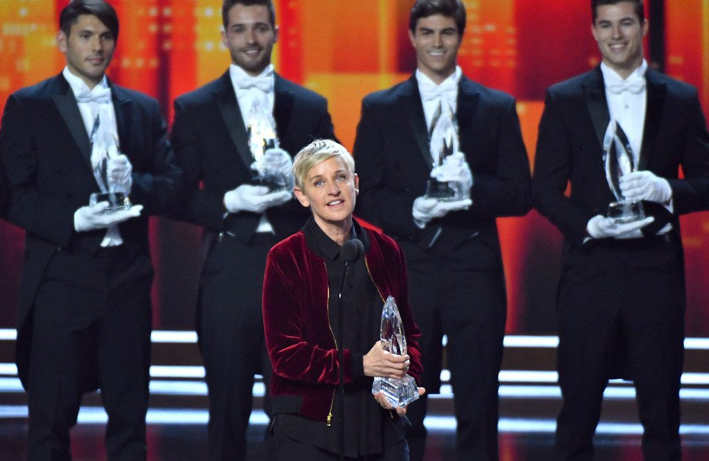 Ellen DeGeneres won People's Choice Awards for favorite animated movie voice, favorite daytime TV host and favorite comedic collaboration on Jan. 18, 2017.