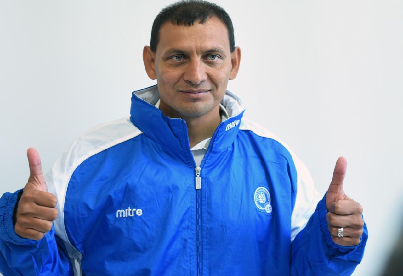 """Jorge """"Zarco"""" Rodríguez es director técnico interino de El Salvador. (AFP/Getty Images/MARVIN RECINOS)"""