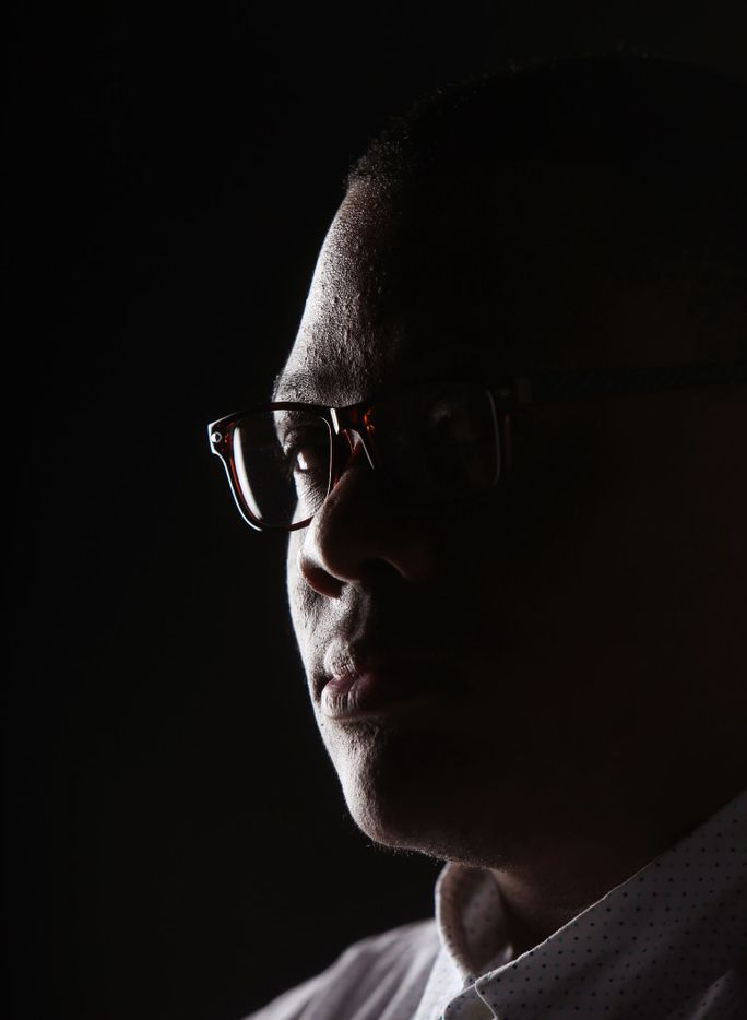 Trenton Johnson is not a silent man and now he is sharing his story. (Rose Baca/The Dallas Morning News)