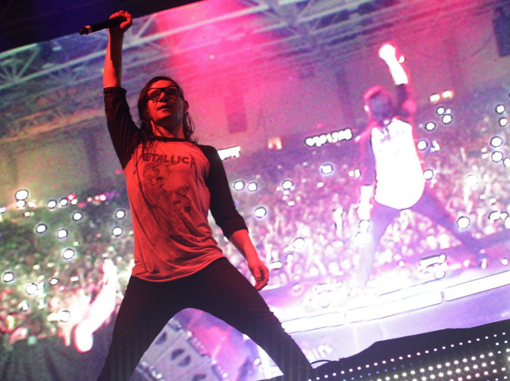 Skrillex performs during the Lights All Night festival at the Dallas Convention Center in Dallas, TX, on Dec. 26, 2014. (Jason Janik/Special Contributor)