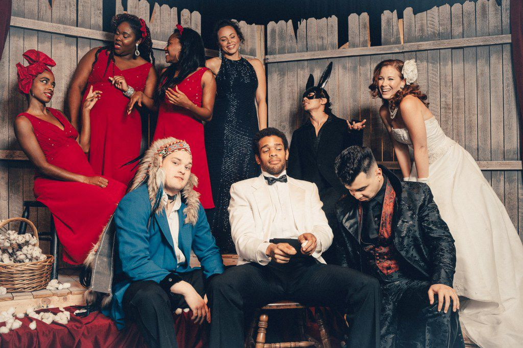 Stage West's ensemble cast for the regional premiere of Branden Jacobs-Jenkins' An Octoroon