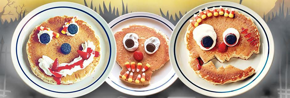 Scary face pancakes: Pretty darn cute, right?