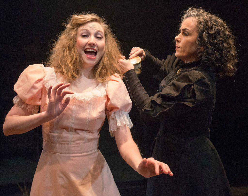 Mikaela Krantz (left) and Emily Scott Banks in The Moors at Theatre Three.