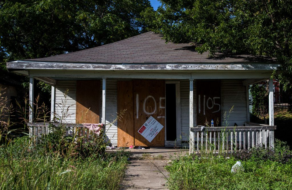 The City Attorney's Office says there have been dozens of code violations at this shotgun house on E. 9th Street.