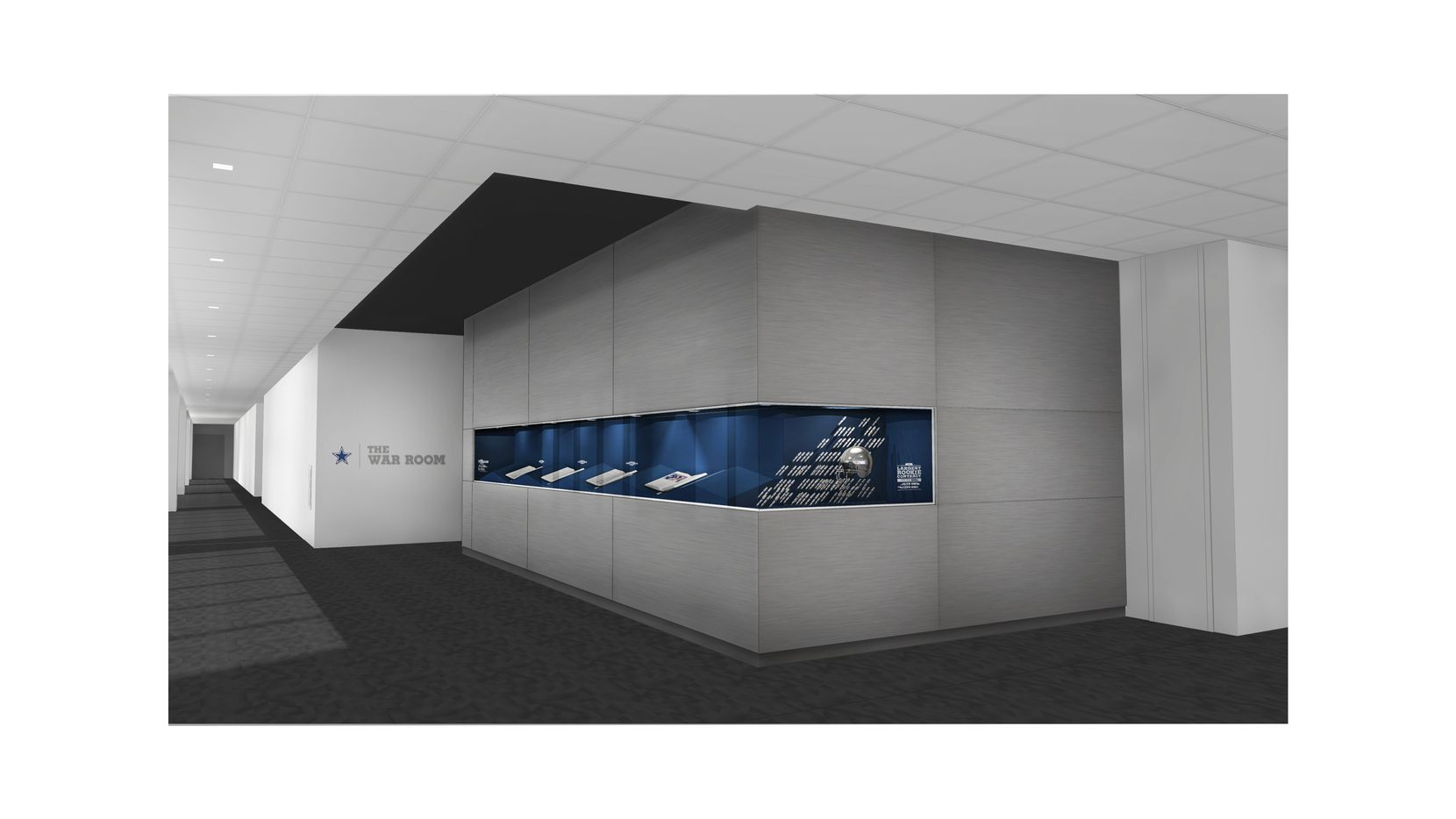An artist's rendering of the exterior of the new draft war room at the Cowboys headquarters at The Star in Frisco.