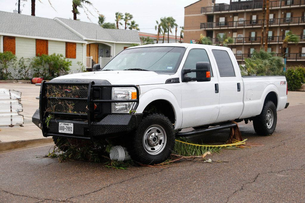 The truck that Bill and Paulette passed Friday night in during Hurricane Harvey in Port Aransas. It was filled to the dash with water until morning, with them and their dogs inside.