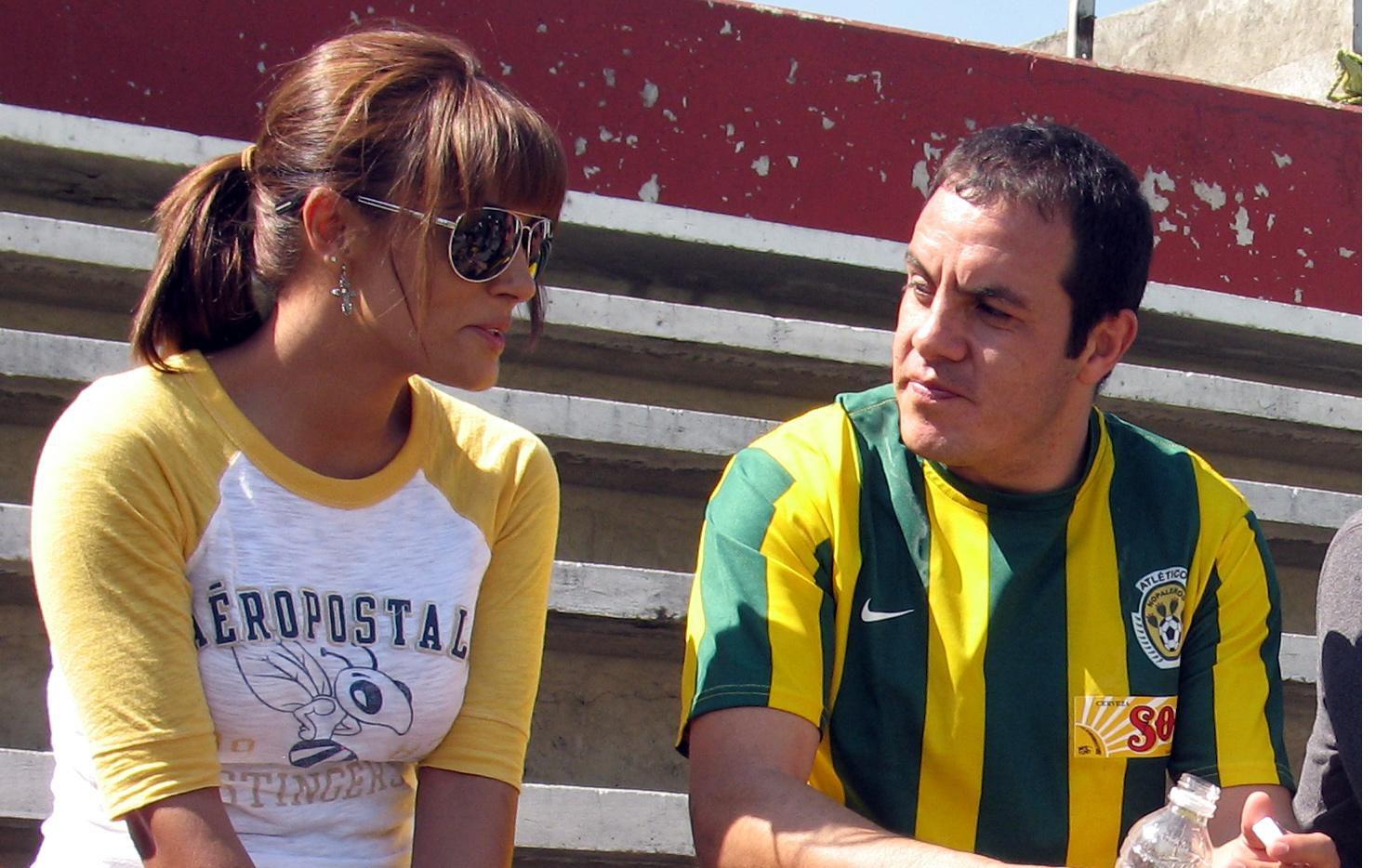 La actriz Rossana Nájera y Cuauhtémoc Blanco fueron pareja por algunos años. AGENCIA REFORMA.