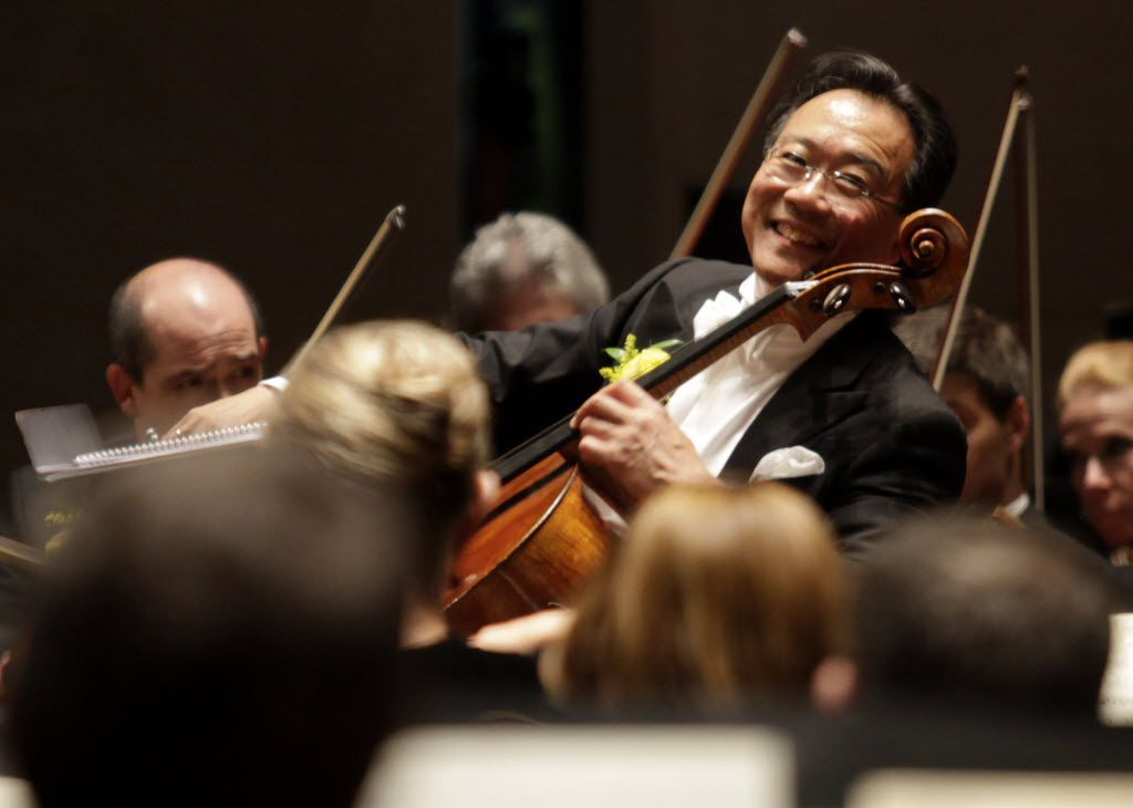 Yo-Yo Ma performed with the Dallas Symphony Orchestra at the Meyerson Symphony Center in 2012, and will be back for the DSO's 2017-18 season-opening gala.