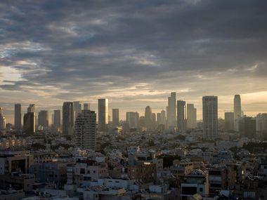 TEL AVIV, ISRAEL - JANUARY 15:  The Tel Aviv skyline is seen at sunrise on January 15, 2017 Photo by Chris McGrath/Getty Images