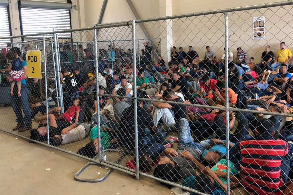 This photo shows overcrowding of families at the U.S. Border Patrol McAllen Station on June 10, 2019. (Photo by Office of Inspector General/Department of Homeland Security via Getty Images)