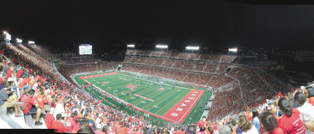 A panoramic view of TDECU Stadium on the campus of the University of Houston 29 August 2014.