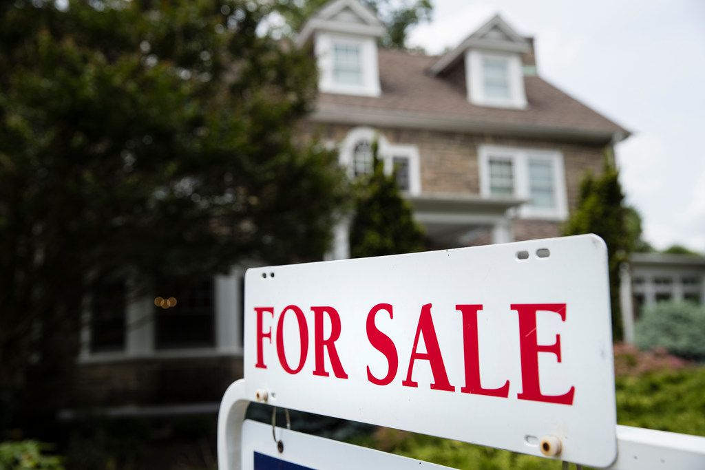 A for sale sign stands in front of a house, in Jenkintown, Pa., Friday, June 8, 2018. (AP Photo/Matt Rourke)