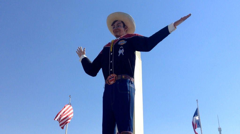 Big Tex en la Feria Estatal de Texas.
