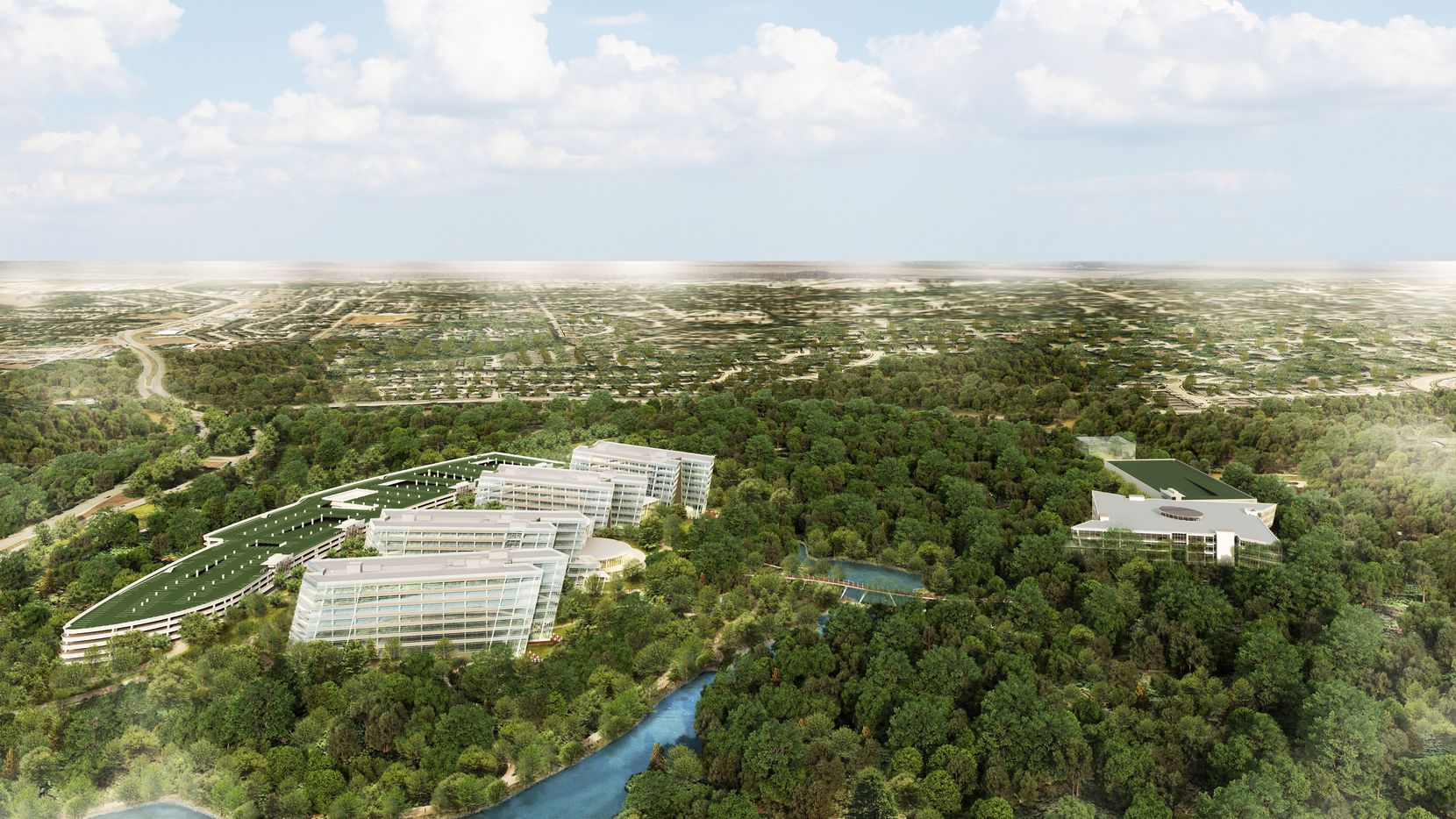 A rendering of American Airlines' plans for its new headquarters campus, set to open in 2019.