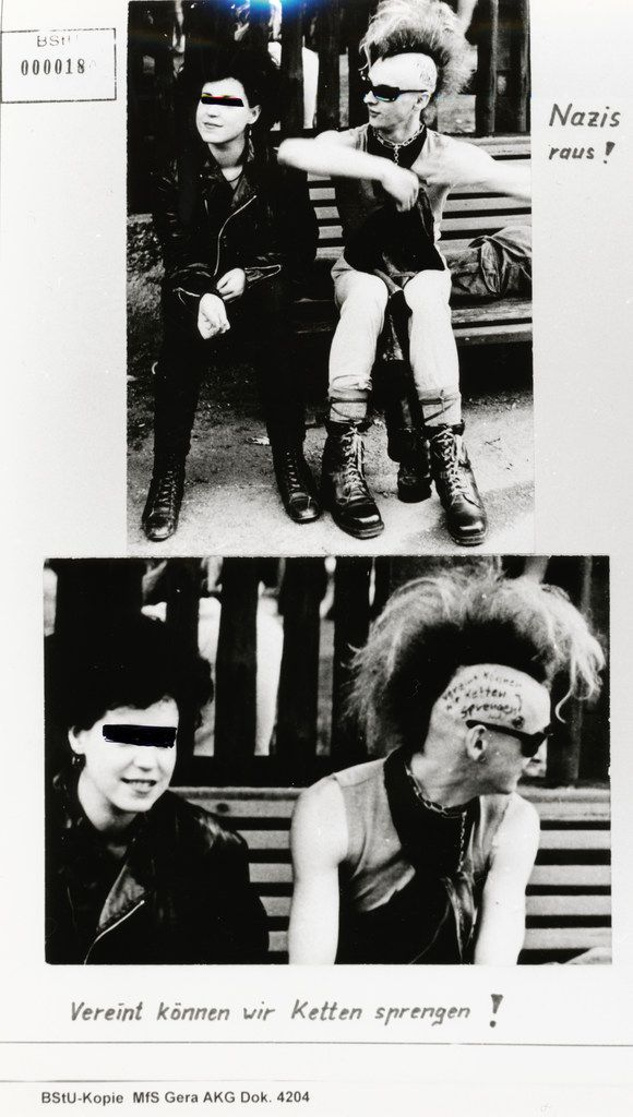 Burning Down the Haus describes the  high stakes and consequences faced by East German punk rockers, shown here in a Stasi surveillance photo