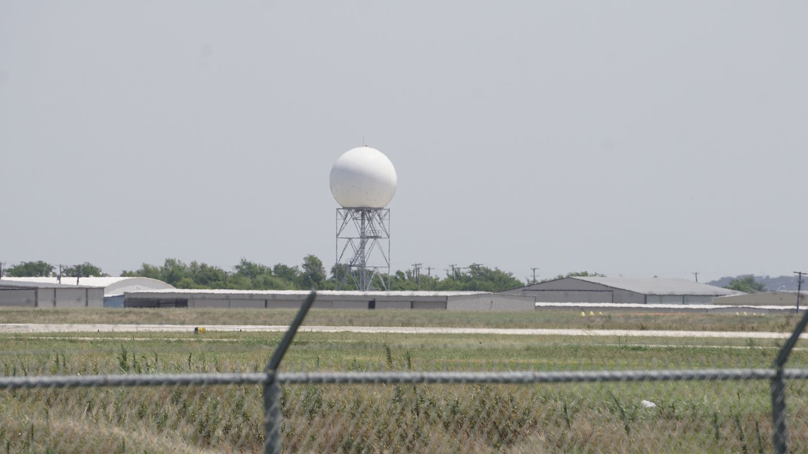 National Weather Service Doppler Radar at Spinks Airport in Burleson, TX on Monday July 9, 2019. (Lawrence Jenkins/Special Contributor)