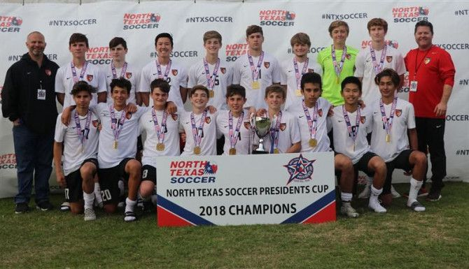 16-Under Boys Champions: Dallas Texans 02 Red Forth Worth