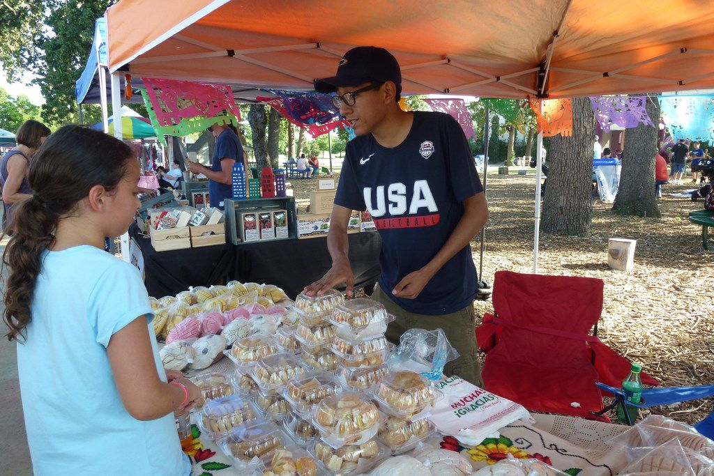 Edgar Avila-Mendoza owns El Cafecito bakery with his mother, Leticia Mendoza, who uses family recipes for her fresh-baked goods. They sell at the Farmers Branch Market.