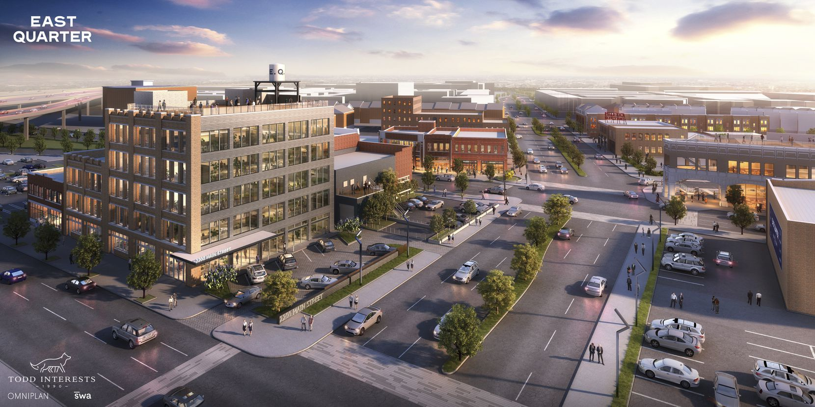 The East Quarter development includes almost two dozen historic buildings and lots on the east side of downtown Dallas that will be repurposed for office and retail space.