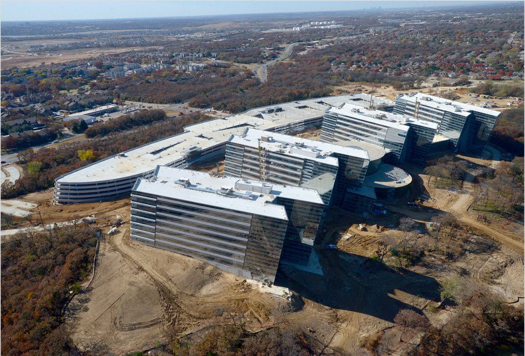 In November, American Airlines provided three drone photographs showing the progress on its campus near Highways 360 and 183.