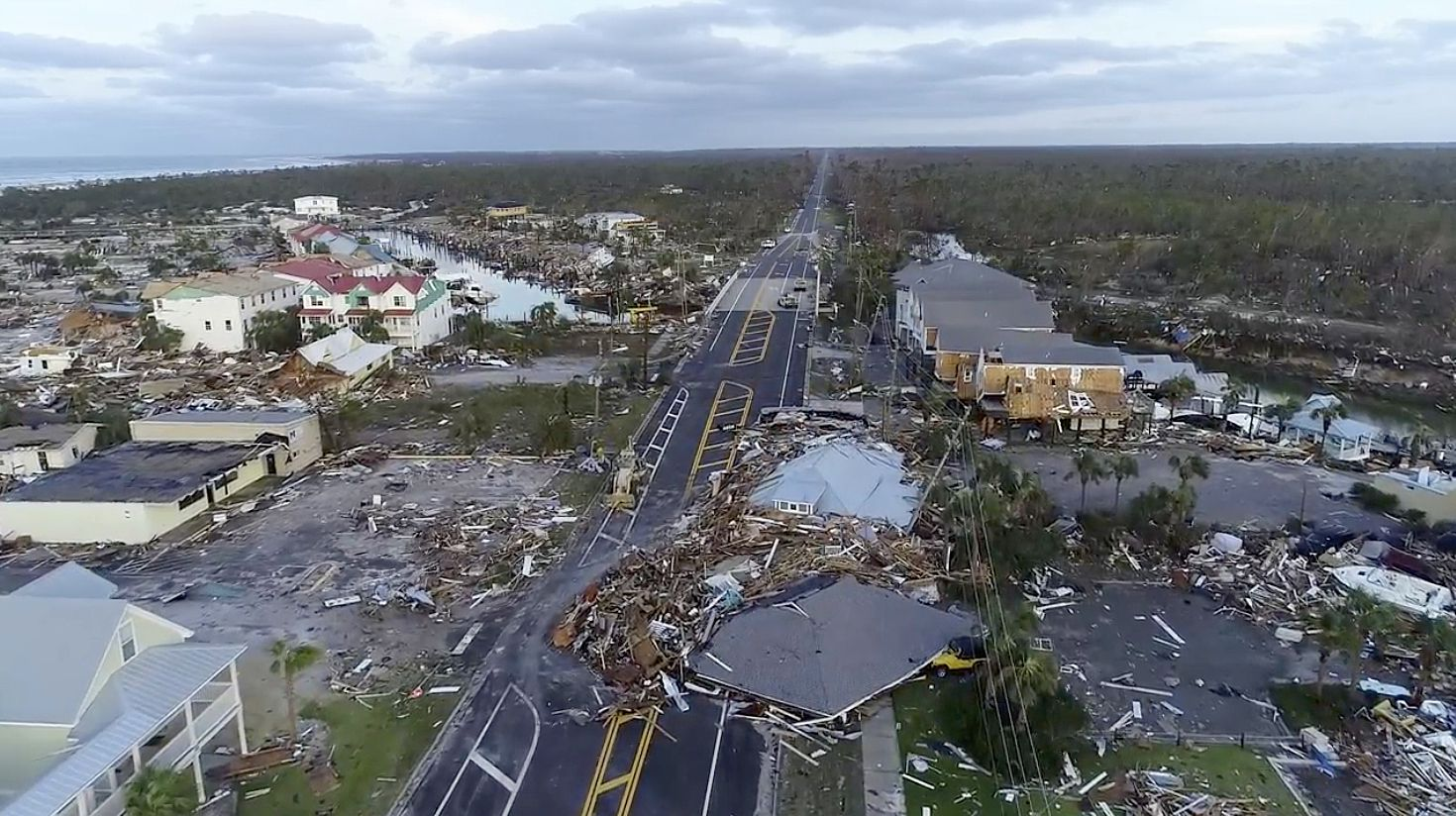 Hurricane Michael caused significant damage in Mexico Beach, Fla., and search-and-rescue teams fanned out across the Florida Panhandle on Thursday.