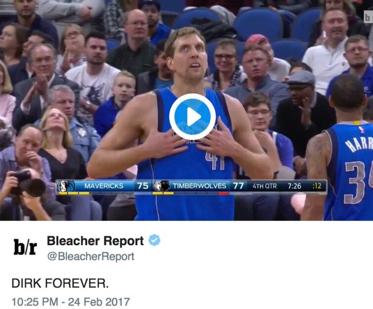 Screenshot of Bleacher Report's tweet
