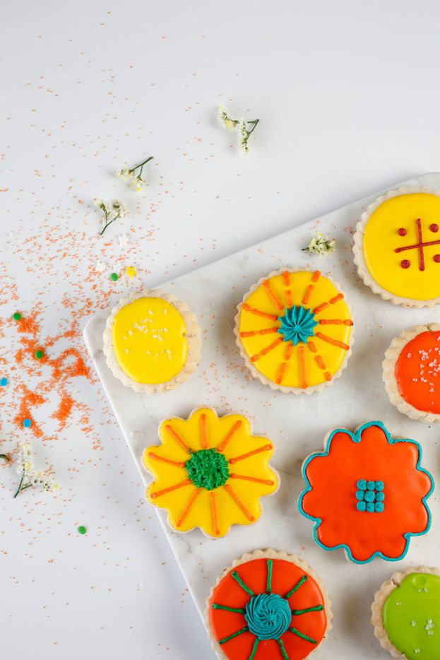 Shortbread cookies photographed at Le Gourmet Baking in Dallas on Wednesday, April 11, 2018. (Rose Baca/The Dallas Morning News)