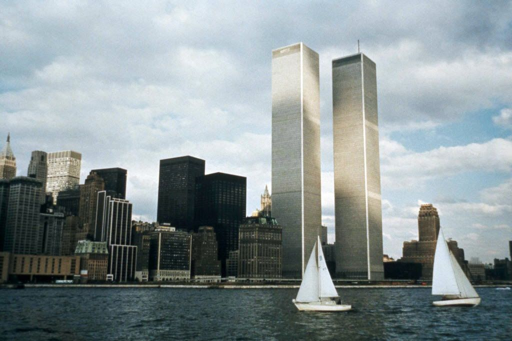 FILE - This 1972, file photo, shows the World Trade Center in New York. The twin towers stood as New York's tallest until the terrorist attacks of Sept. 11, 2001, when two planes crashed into the World Trade Center causing the twin 110-story towers to collapse, making the Empire State Building the tallest once again. (AP Photo/File)