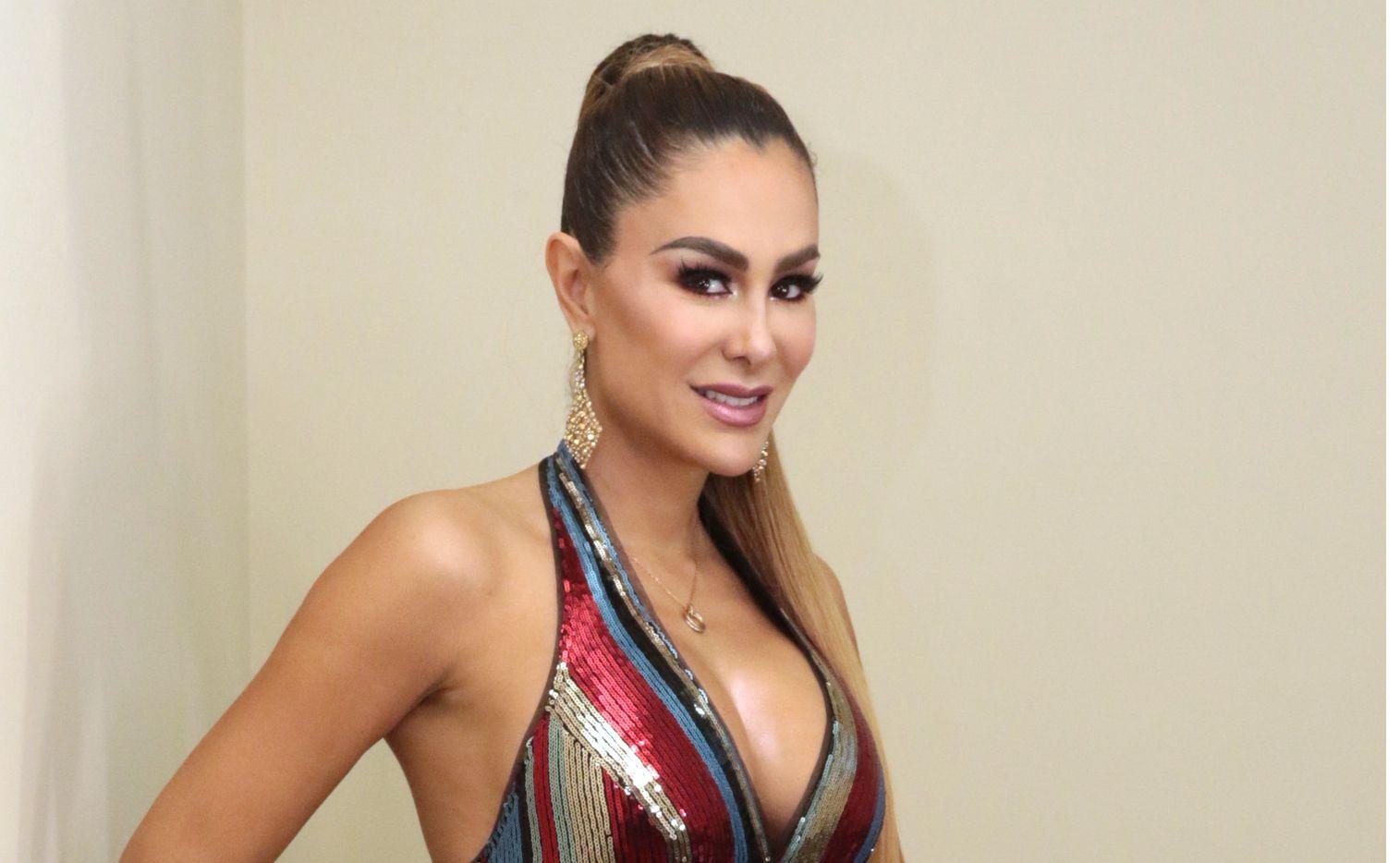 La actriz Ninel Conde, quien evitó mencionar a su pareja Giovanni Medina, dijo que su papel de mamá es más importante./ AGENCIA REFORMA