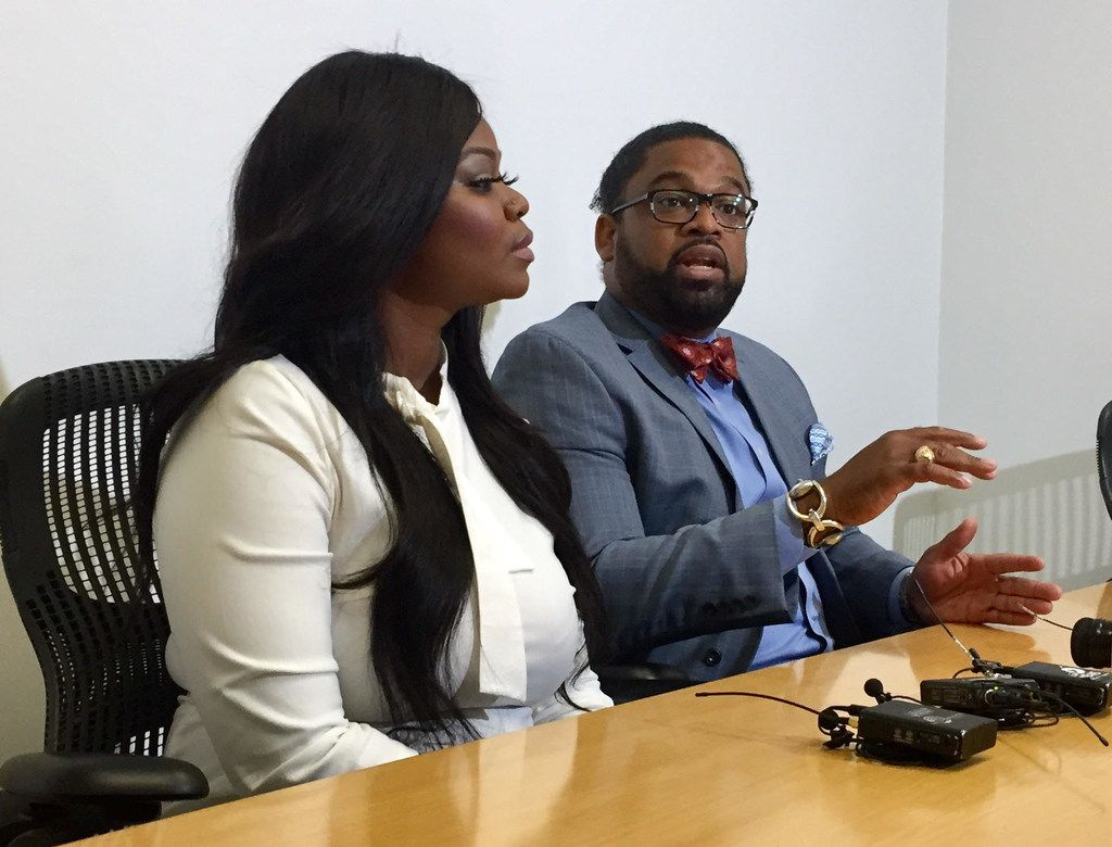 "Larry Taylor discusses a ""traumatic"" Uber driving event experienced earlier this year by his client Zonya Robinson on Monday morning in Dallas. Robinson was driving four people when she claims she was verbally and physically assaulted by two of the passengers."