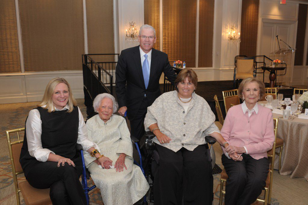 United Way CEO Jennifer Sampson, left, with Margaret McDermott, Rich and Mary Templeton, and Ruth Sharp Altshuler at a United Way of Metropolitan Dallas Tocqueville Society event on Oct. 13, 2015.