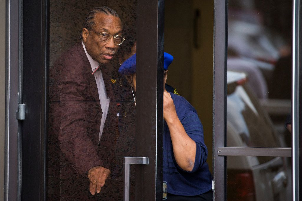 Dallas County Commissioner John Wiley Price departs the Earle Cabell Federal Building and Courthouse on Friday in Dallas. (Smiley N. Pool/The Dallas Morning News)