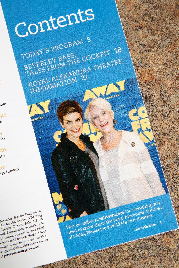 A playbill with a photo of Jenn Colella, (left) who plays Captain Beverley Bass in 'Come From Away,' at Bass' home in Argyle, Texas on May 24, 2017.
