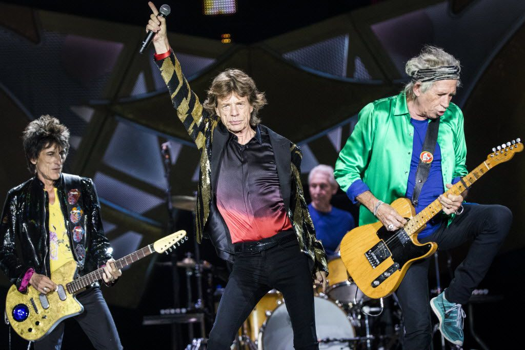 The Rolling Stones at AT&T Stadium in Arlington on June 6, 2015.