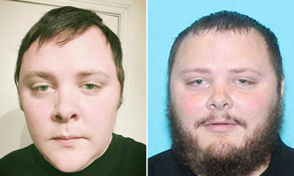 These two file photo images widely distributed on social networks on November 6, 2017, allegedly show 26-year-old Devin Kelley who walked into the church in Sutherland Springs with an assault rifle on November 5, killing 26 people and wounding 20 more.     The US Air Force said on November 28, 2017 it has found several dozen cases where it failed to report military convictions to civilian police, meaning some airmen could have illegally bought guns.Air Force investigators are wading through some 60,000 military criminal files dating back to 2002 as part of a probe into how a former airman who carried out a mass shooting was able to buy firearms, even though he had a domestic violence conviction. Devin Kelley, the shooter in the November 5 attack at a Texas church that killed 26 people and wounded 20 more, was convicted by court-martial in 2012 of two charges of domestic assault against his wife and stepson.The fact his conviction failed to reach a key federal database prompted the Air Force and other services to look through old cases.