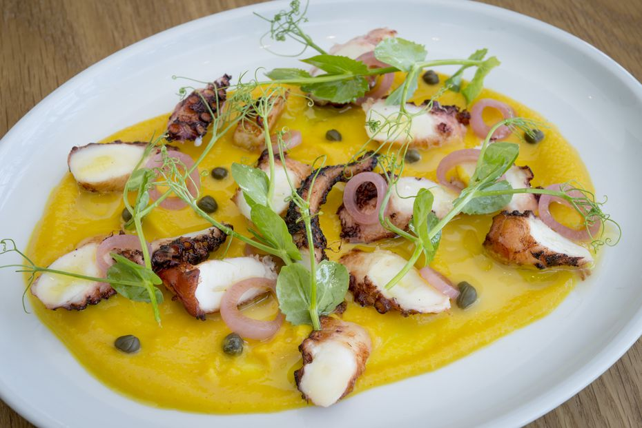 """Our critic said of the octopus santorini in 2018: """"It may be some of the best octopus you've ever eaten."""""""