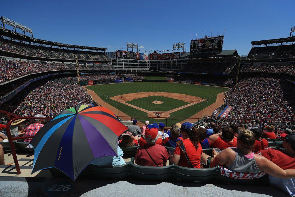 La casa de los Texas Rangers, el Globe Life Park de Arlington, será sede de Chivas vs. Atlético de Madrid por la ICC (FOTO DE Ronald Martinez/Getty Images)